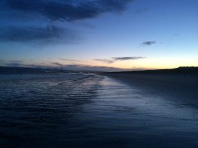 Dollymount Beach at Dusk in 2017.
