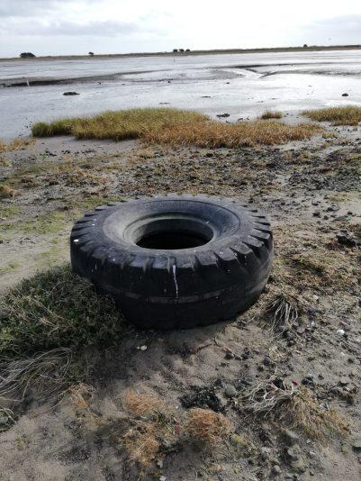 Tire Beach Dublin Litter