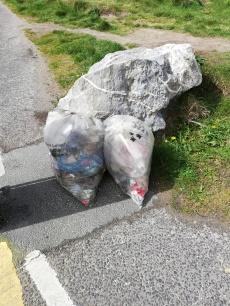 Plastic Litter Dublin Beach