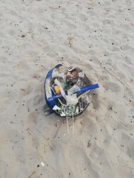 Beach litter Dublin